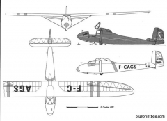 caudron c 800 epervier model airplane plan
