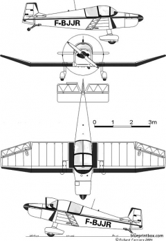 cea jodel dr 1050ambassadeur model airplane plan