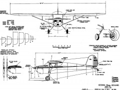 cessna140 1 3v model airplane plan