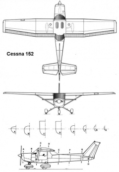cessna152 3v model airplane plan