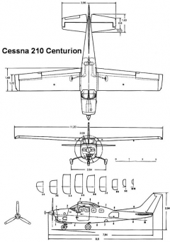 cessna210 3v model airplane plan