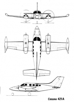 cessna421 3v model airplane plan