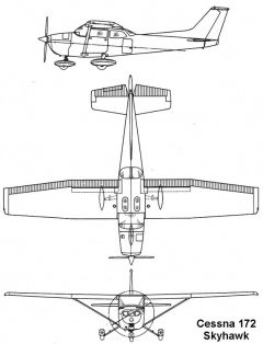 cessna 172 3v model airplane plan