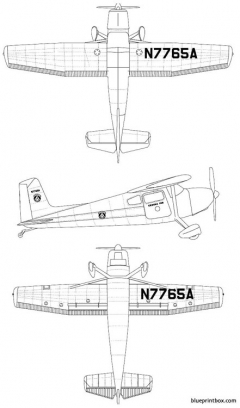 cessna 180 model airplane plan