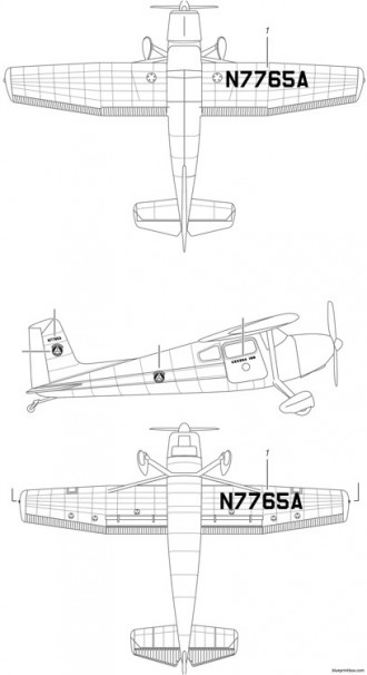 cessna 180 ssp model airplane plan