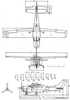 cessna 210 centurion model airplane plan