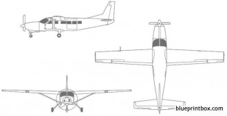 cessna caravan 675 model airplane plan