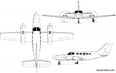 cessna chancellor model airplane plan