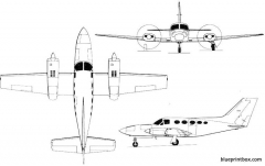 cessna chancellor 2 model airplane plan
