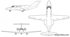 cessna citation cj1+ model airplane plan