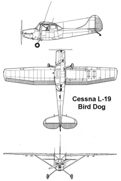 cessna l19 3v model airplane plan