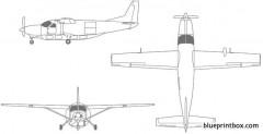 cessna super cargomaster model airplane plan