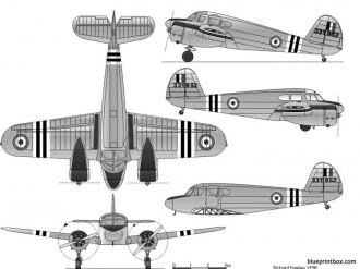 cessna t 50 uc 78 bobcat model airplane plan