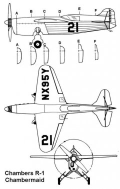 chambers r1 3v model airplane plan