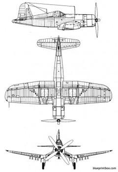 chance vought f4u4 corsair model airplane plan
