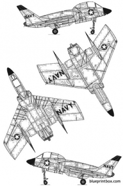 chance vought f7u 3 cutlass model airplane plan