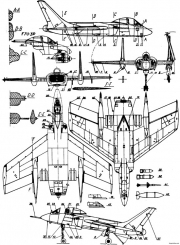 chance vought f7u cutlass 2 model airplane plan