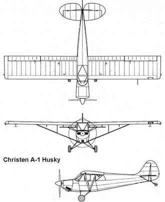 christen husky 3v model airplane plan