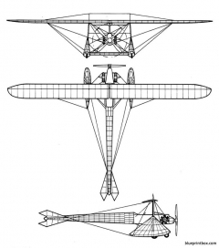 coanda 1911 model airplane plan