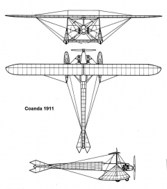 coanda 3v model airplane plan
