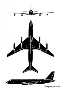 convair 880 model airplane plan