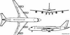convair 880 1959 usa model airplane plan