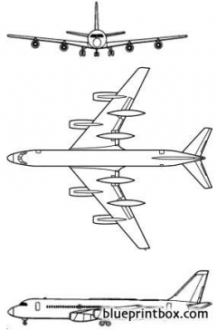 convair 990 1961 usa model airplane plan
