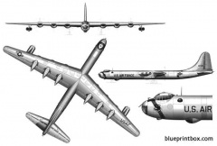 convair b 36 peacemaker 2 model airplane plan