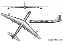 convair b 36 peacemaker 3 model airplane plan