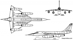convair b 58 hustler 1956 usa model airplane plan