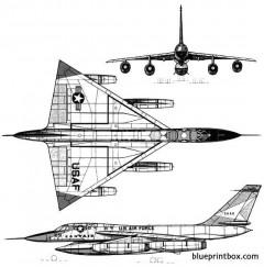 convair b 58 hustler 2 model airplane plan