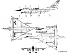 convair b 58a hustler model airplane plan