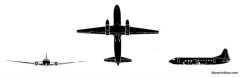 convair c 131 samaritan model airplane plan