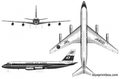 convair cv 880 model airplane plan