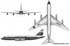 convair cv 880 2 model airplane plan