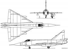 convair f 102 delta dagger 1956 usa model airplane plan