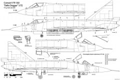 convair f 102 delta dagger 2 2 model airplane plan