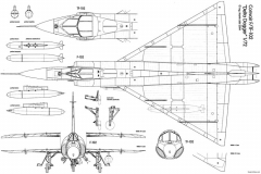 convair f 102 delta dagger 3 model airplane plan