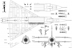 convair f 102 delta dagger 4 model airplane plan