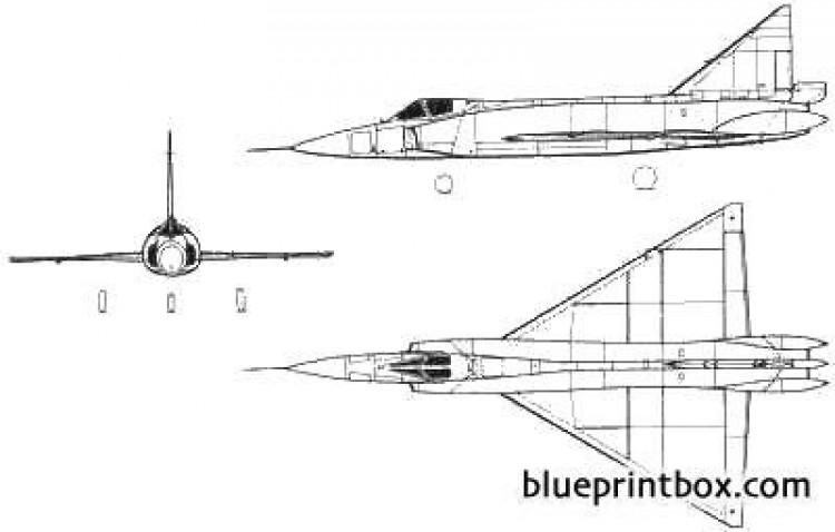 convair f 102a delta dagger model airplane plan