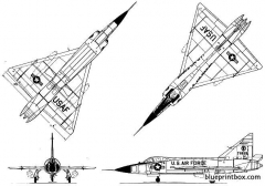 convair f 102a delta dagger 02 model airplane plan