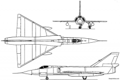 convair f 106 delta dart 1956 usa model airplane plan
