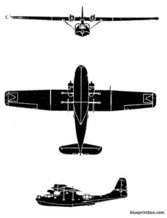 convair pby 5a catalina model airplane plan