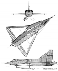 convair xf2y 1 sea dart model airplane plan
