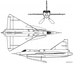 convair xf2y 1 sea dart 1953 usa model airplane plan