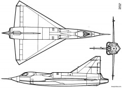 convair xf2y sea dart model airplane plan