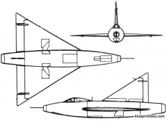 convair xf 92 1948 usa model airplane plan
