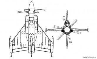 convair xfy 1 pogo 2 model airplane plan