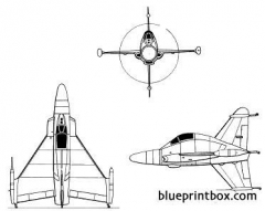 convair xfy 1 pogo 3 model airplane plan