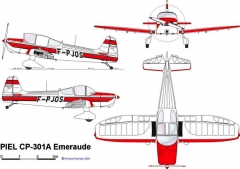 cp301a 3v model airplane plan